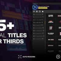 AE.PR扩展:555组文字标题字幕条动画预设Essential Titles and Lower Thirds